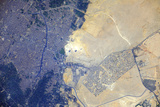 View from Space of the Pyramids at Giza, Egypt Photographic Print
