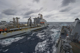 Uss Truxtun Participates in an Underway Replenishment with Usns Patuxent Photographic Print