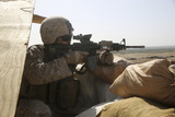 U.S. Marine Mans a Security Post During a Mission in Afghanistan Photographic Print