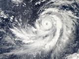 Typhoon Francisco Southwest of Guam Photographic Print