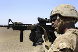 U.S. Marine Holds Security During a Patrol in Afghanistan Photographic Print