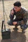 U.S. Marine Conducts Radio Checks Photographic Print