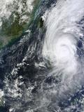 Typhoon Krosa over the Phillippines Photographic Print