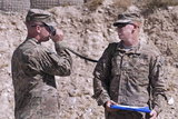 U.S. Army Chief Receives Coordinates from Fire Support Command Photographic Print