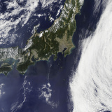Satellite View of Japan Photographic Print