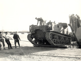 U.S. Army M7 Howitzer Motor Carrier Being Unloaded in Algiers Photographic Print
