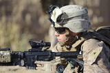 U.S. Marine Provides Security During a Patrol in Afghanistan Photographic Print