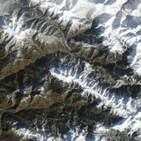 Satellite View of Krasnaya Polyana, Russia Photographic Print