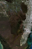 Satellite View of Southern Florida Photographic Print