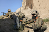 U.S. Army Specialist Conducts a Radio Check in Afghanistan Photographic Print