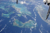 View from Space Featuring the Bahama Islands and Part of Peninsular Florida Photographic Print