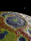 A Free-Air Gravity Map of the Moon's Southern Latitudes Photographic Print