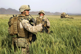 U.S. Marines Patrol Through a Field During a Mission Afghanistan Photographic Print