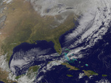 Satellite View of a Powerful Weather System in the United States Photographic Print