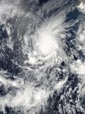 Satellite View of Tropical Cyclone Amanda Photographic Print