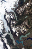 View of Grinding Glaciers and Granite Peaks in Chile's Torres Del Paine National Park Photographic Print