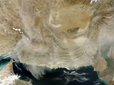 A Dust Storm Stretching from the Coast of Pakistan to the Strait of Hormuz Photographic Print