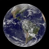 Satellite View of the Americas on Earth Day Photographic Print