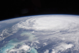 View from Space of Hurricane Irene Photographic Print