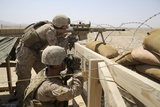 U.S. Marines Man Security Positions During a Mission in Afghanistan Photographic Print