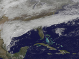 Satellite View of Storm Clouds over the Southeastern United States Photographic Print