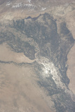 View from Space of the Indus Valley in Pakistan Photographic Print