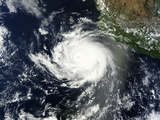 Satellite View of Tropical Cyclone Cristina Photographic Print