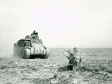 An M3 Grant Tank on the Move During the Battle of Kasserine Pass, Tunisia Photographic Print