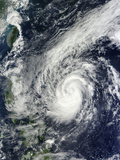Tropical Storm Krosa Off the Phillippines Photographic Print
