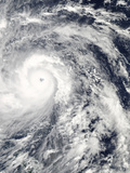 Super Typhoon Haiyan as it Moved West Toward the Coast of the Philippines Photographic Print