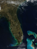 Satellite View of Florida Photographic Print