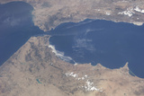 View from Space of the Strait of Gibraltar Photographic Print