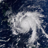 Typhoon Bopha Southeast of the Philippines Photographic Print