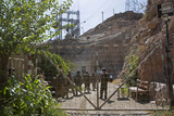 Coalition Forces Pass Through a Gate at the Kajaki Dam, Afghanistan Photographic Print