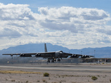 A B-52 Stratofortress Takes Off from Nellis Air Force Base Photographic Print
