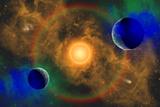 A Nebulous Alien Planetary Star System Prints