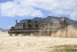 A Landing Craft Air Cushion on the Beach of Hawaii Photographic Print