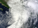 Hurricane Ingrid and Tropical Storm Manuel over Mexico Photographic Print