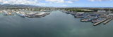 Aerial View of Military Ships Moored at Joint Base Pearl Harbor-Hickam, Hawaii Photographic Print