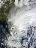 Hurricane Sandy Off the Southeast United States Photographic Print