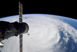Cyclone Glenda and a Docked Soyuz Spacecraft Photographic Print