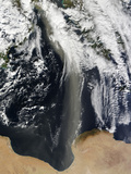 A Plume of Saharan Dust Spans the Mediterranean Sea Photographic Print