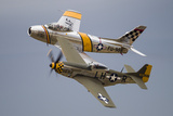 A P-51 Mustang and F-86 Sabre of the Warbird Heritage Foundation Photographic Print