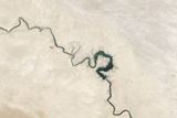Natural Color Image of Qadisiyah Reservoir in Iraq Photographic Print