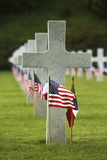 A Grave Site at Aisne-Marne American Cemetery and Memorial in Belleau, France Photographic Print