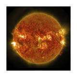 A Solar Flare Erupting on the Left Side of the Sun Prints
