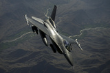 An F-16C Fighting Falcon Flies over Afghanistan Photographic Print