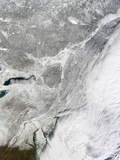 A Winter Storm across the Northeastern United States and Atlantic Ocean Photographic Print