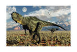 A Pair of Carnivorous Yangchuanosaurus Dinosaurs Posters
