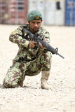 An Afghan National Army Soldier Provides Security Photographic Print